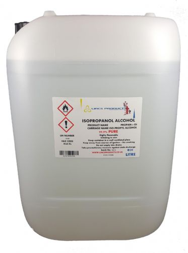 ISOPROPANOL ALCOHOL 100 LITRES SUPPLIED IN 4 X 25 LITRE HDPE JERRYS